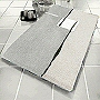 luxury bath mats in contour and extra large sizes with modern contemporary design in  green, toffee, anthracite grey