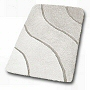 affordable soft thick bathroom rug with unqiue scultped wave design