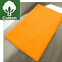 non slip cotton bath rug in bright beautiful colors - red, green, white, orange, blue and natural