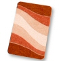 plush beach bathroom rug in contour, extra large and standard sizes in grey, brick, royal blue, garnet red or saffron