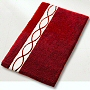 anti slip plush bathroom rugs in garnet red