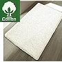 non slip cotton bath rug in bright beautiful colors - red, green, white, orange, blue and natural