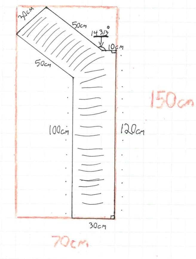 Example diagram of a custom rug